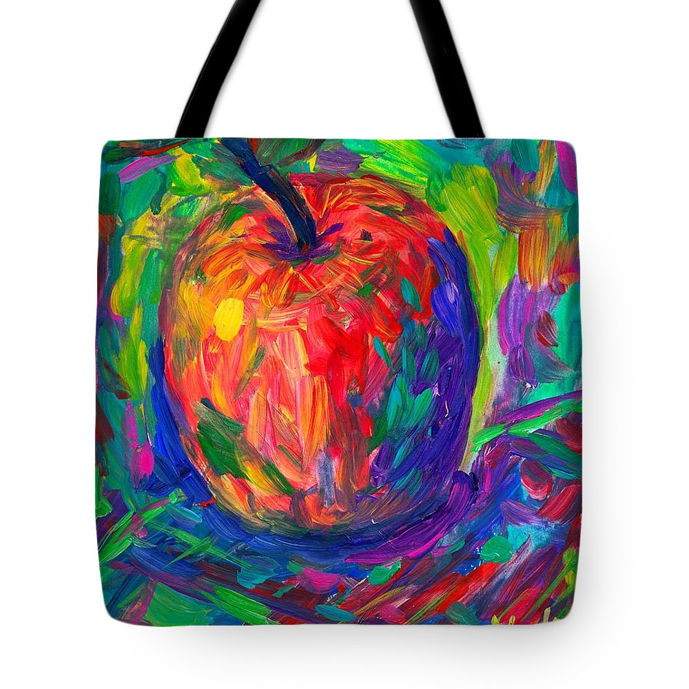 Apple Tote Bag featuring the painting Apple A Day by Kendall Kessler