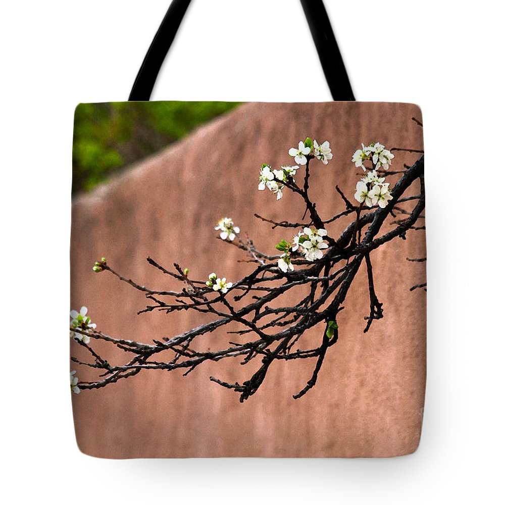 Apple Blossoms Tote Bag featuring the photograph Apple Blossom Branch by Catherine Sherman