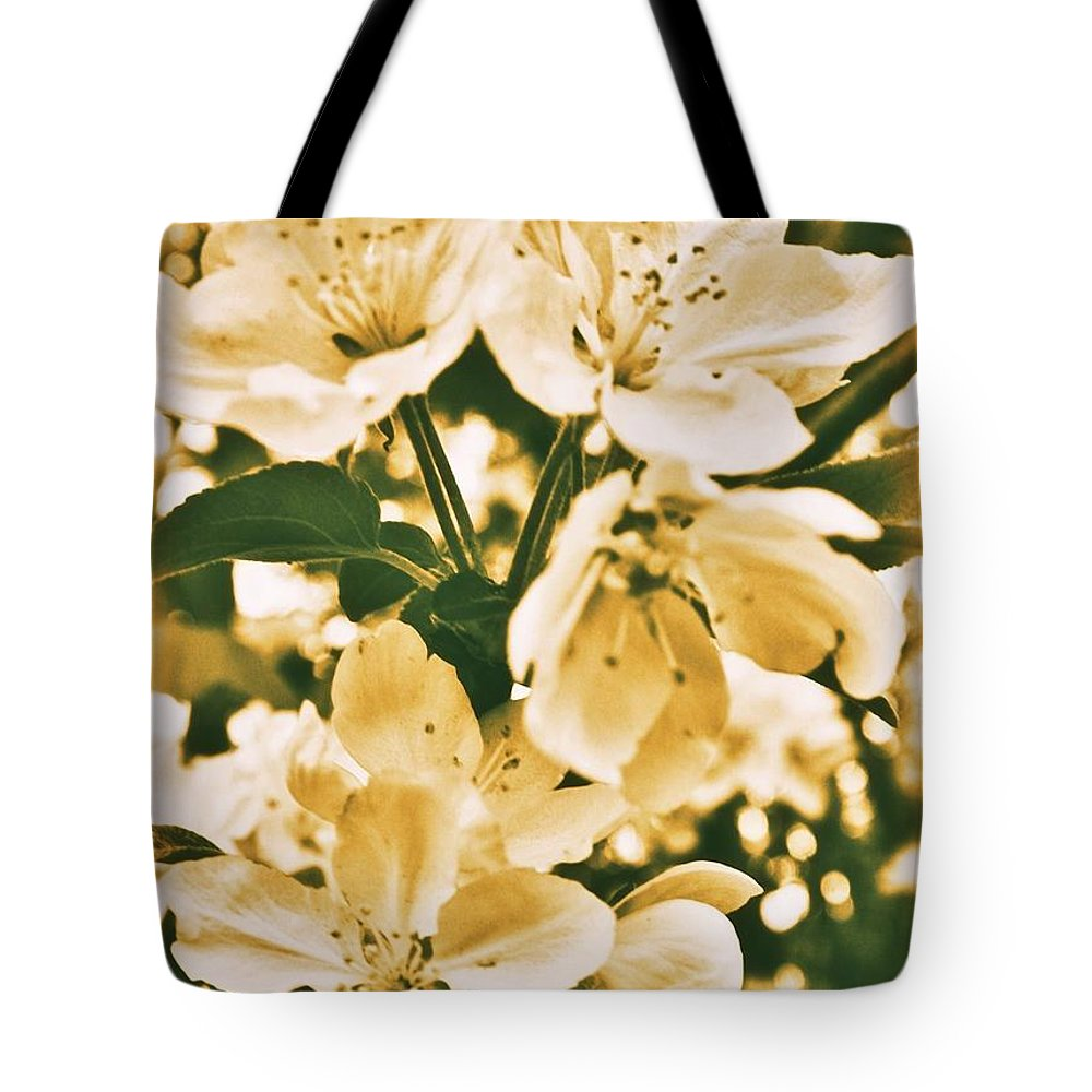 Tote Bag featuring the photograph Apple Blossoms 2 by Chet B Simpson