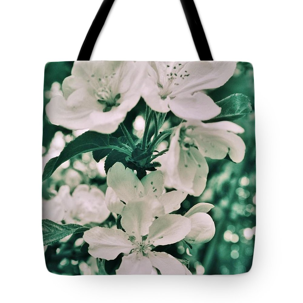 Tote Bag featuring the photograph Apple Blossoms by Chet B Simpson