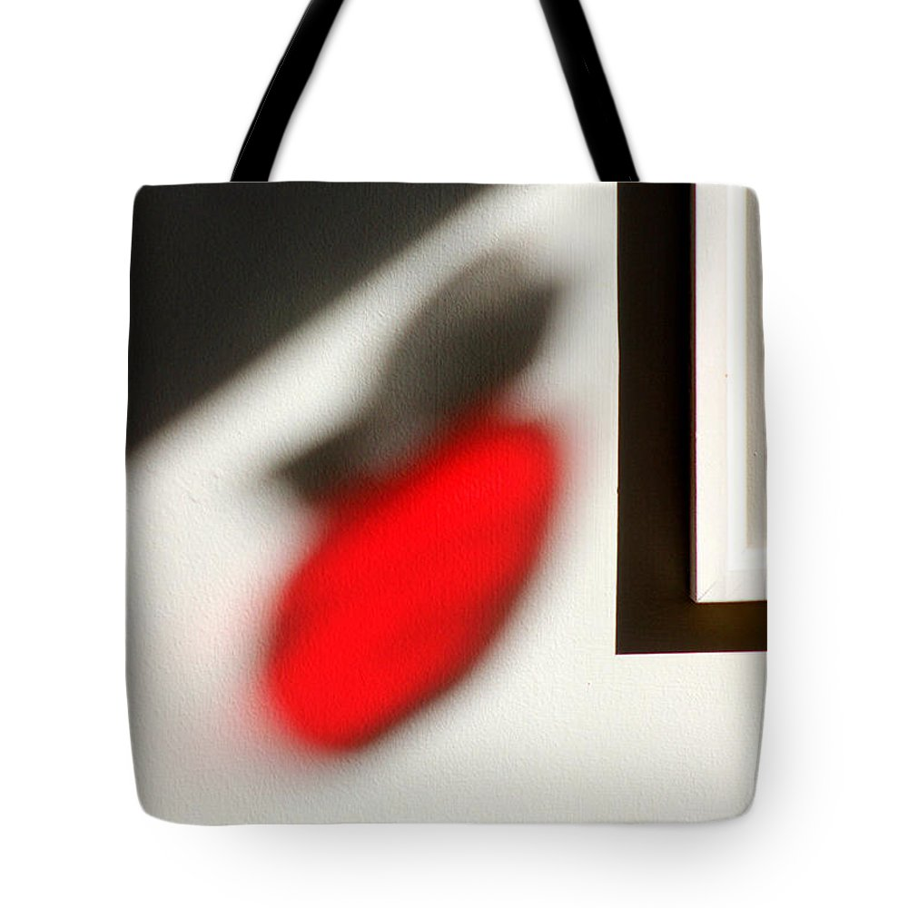 Apple Tote Bag featuring the photograph Apple Reflections by Karen Adams