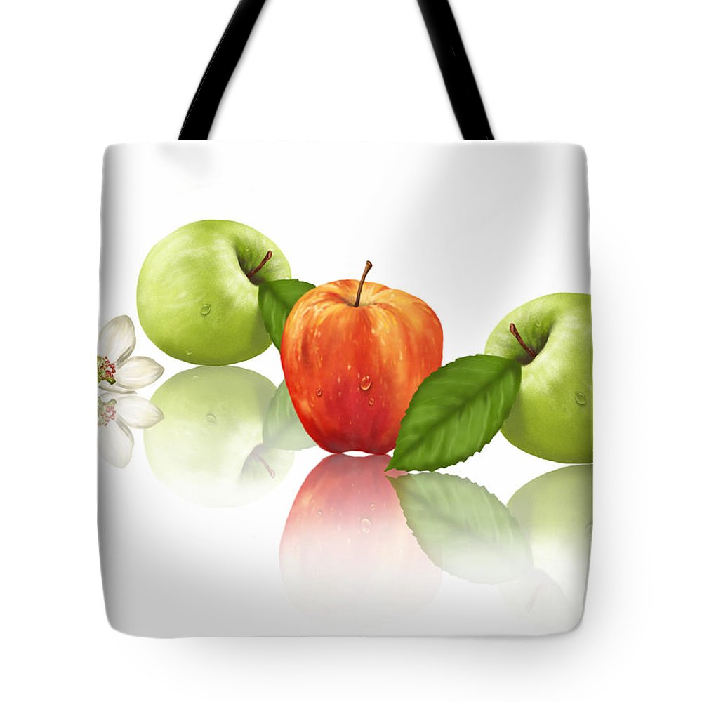 Ipad Tote Bag featuring the painting Apple Story by Veronica Minozzi