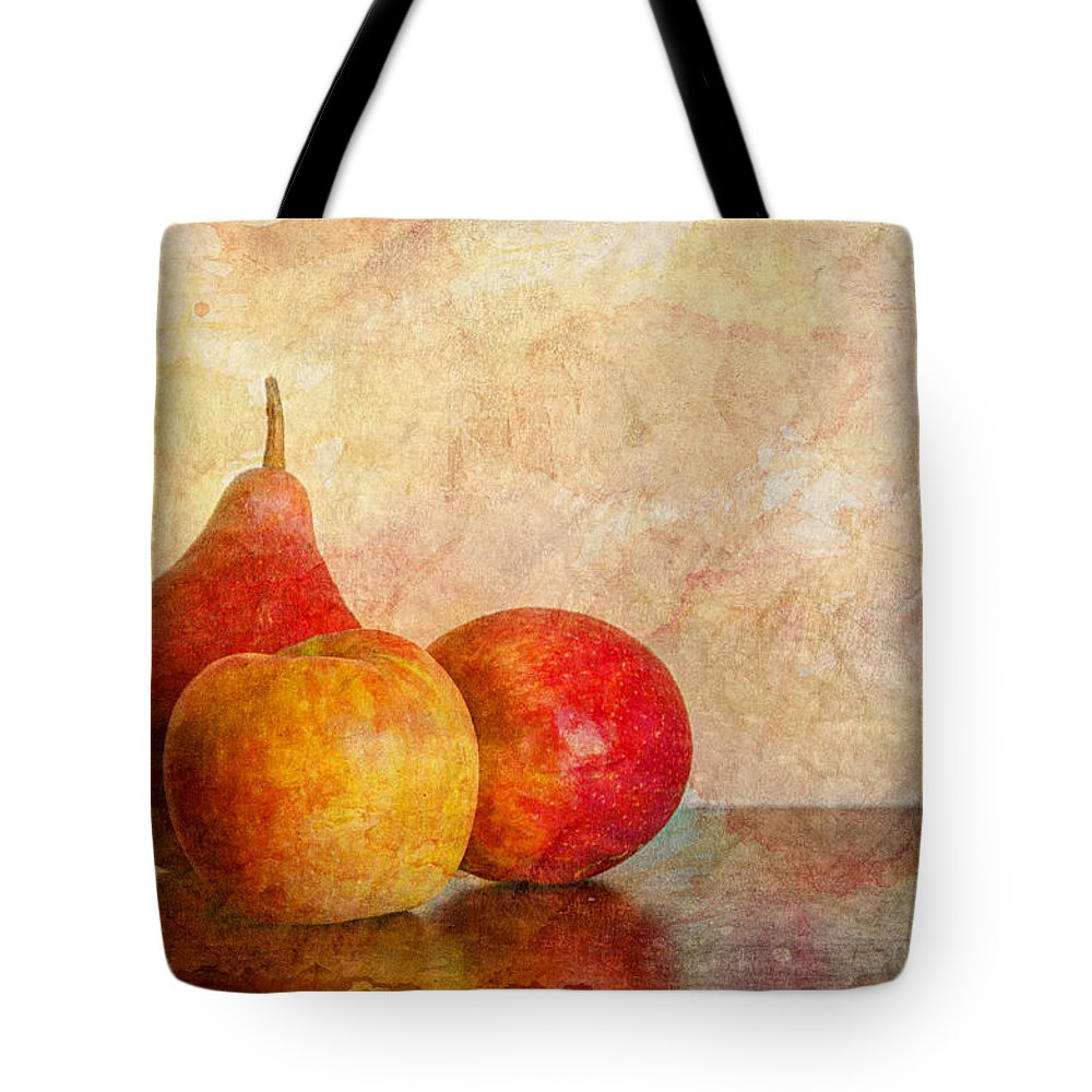 Apple Tote Bag featuring the photograph Apples And A Pear II by Heidi Smith