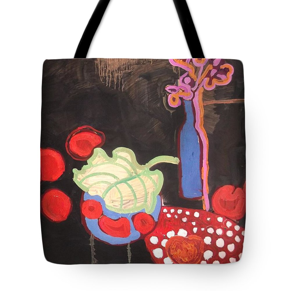 Apples Tote Bag featuring the painting Apples by Laura Vizbule