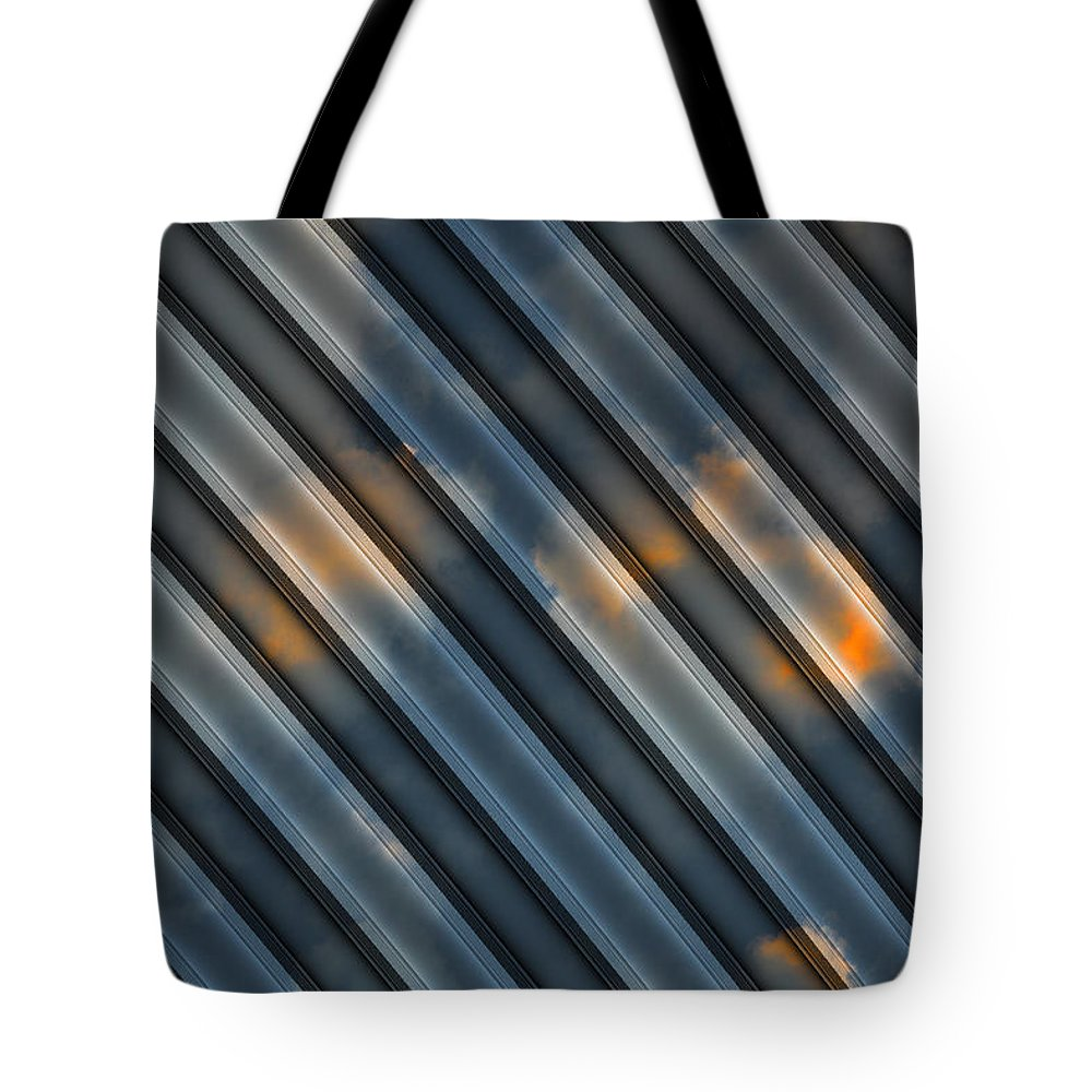 Clouds Tote Bag featuring the digital art Approaching Storm by Jack Bowman