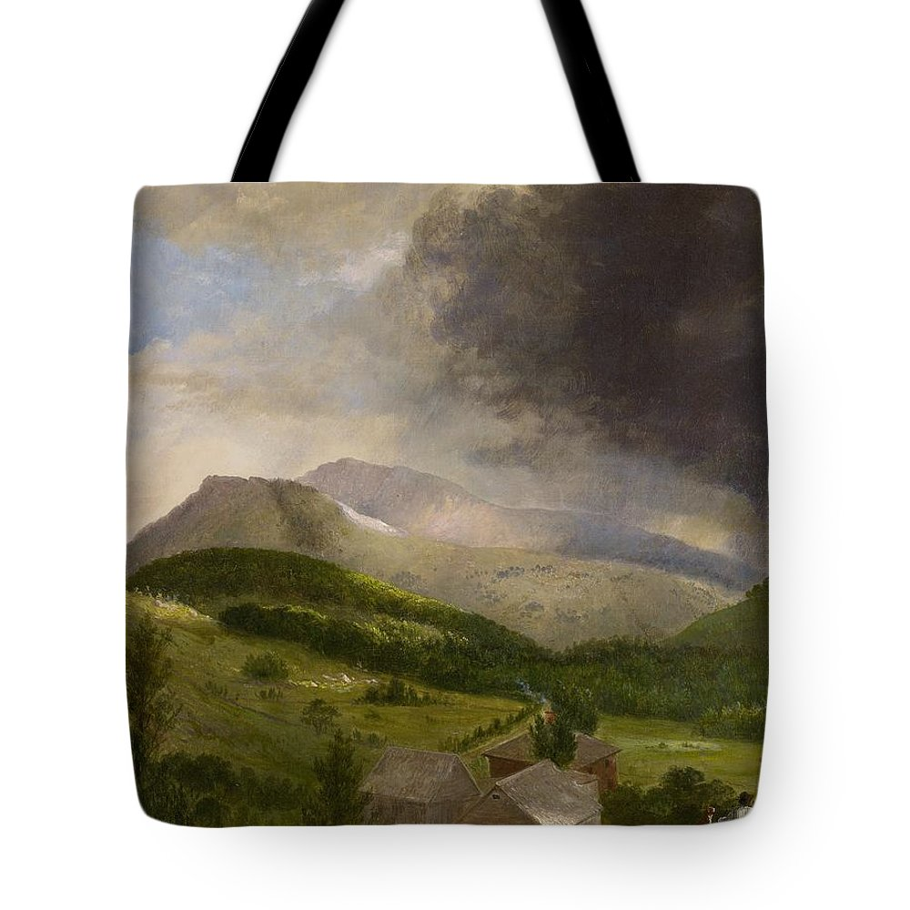 Couple Tote Bag featuring the painting Approaching Storm White Mountains by Alvan Fisher