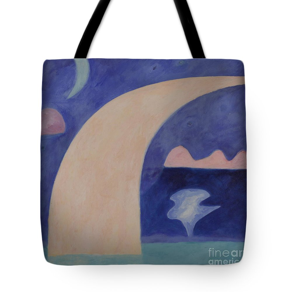 Tote Bag featuring the painting April 1940 by Barry Fishman