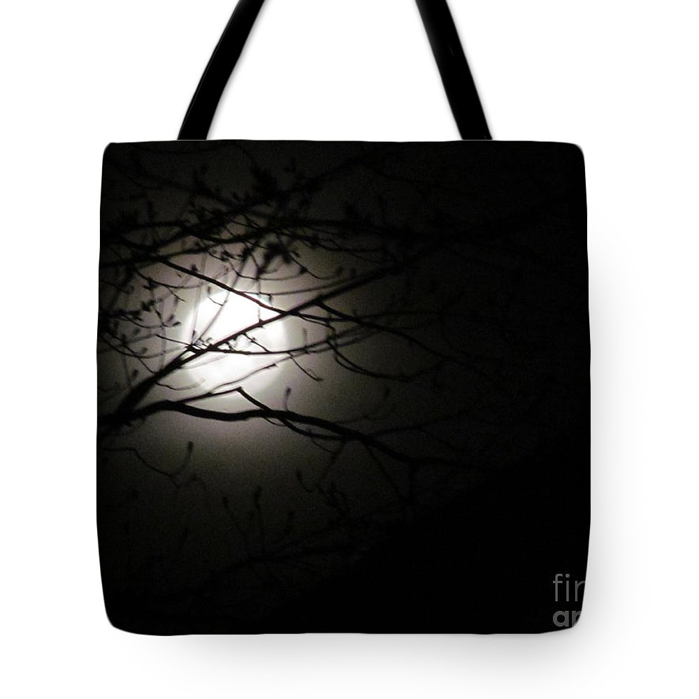 Moon Tote Bag featuring the photograph April 2013 Full Moon by Tina M Wenger