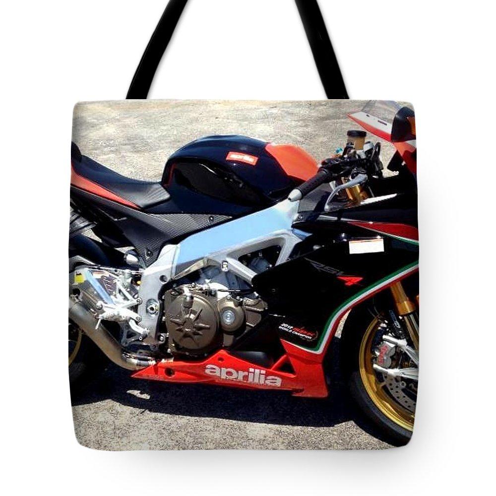 Aprilia Tote Bag featuring the photograph Aprilia by Jackie Austin