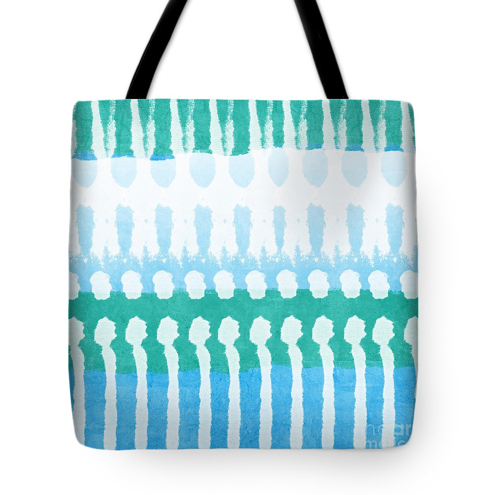 Aqua Tote Bag featuring the painting Aqua by Linda Woods