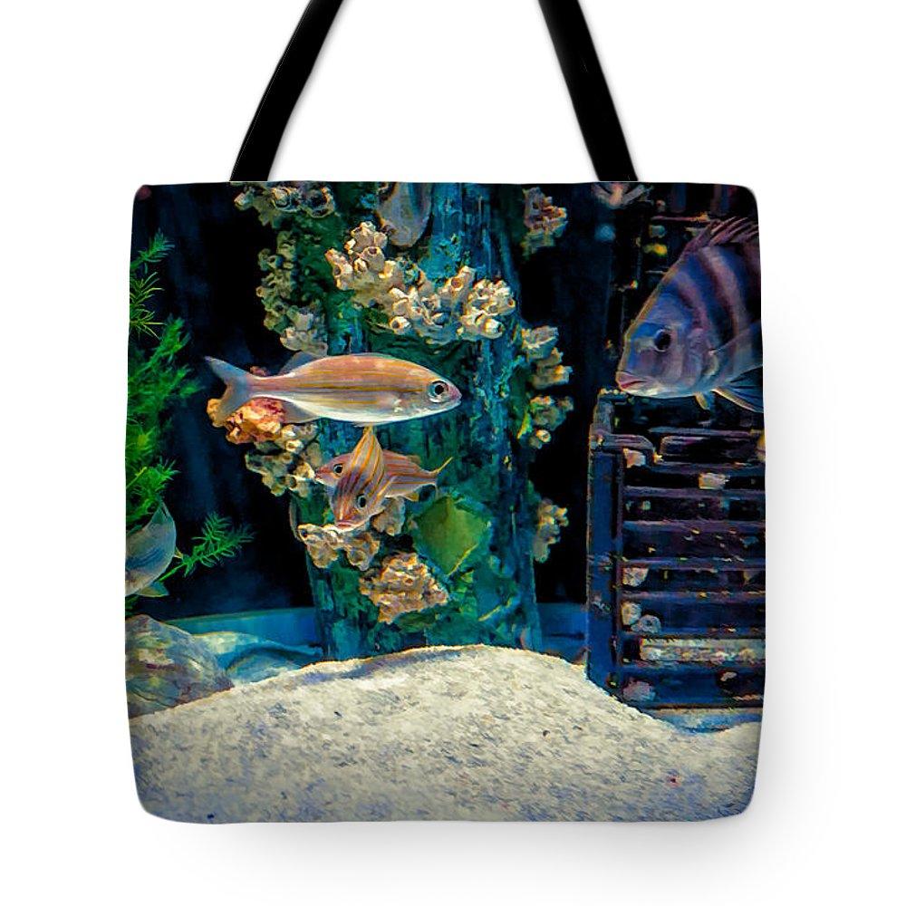 Aquarium Tote Bag featuring the photograph Aquarium Art by Kathleen K Parker