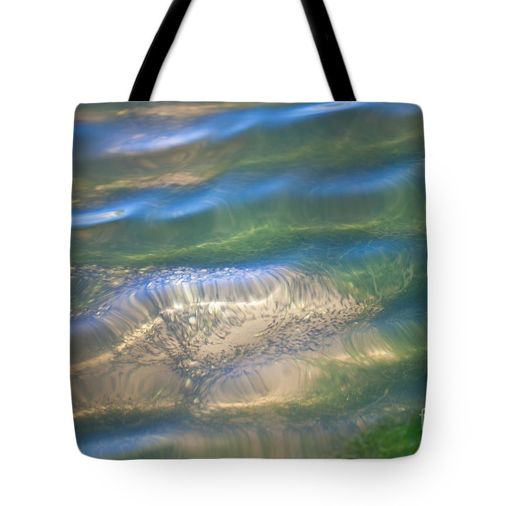 Grass Tote Bag featuring the photograph Aquatic Motion by Dale Powell