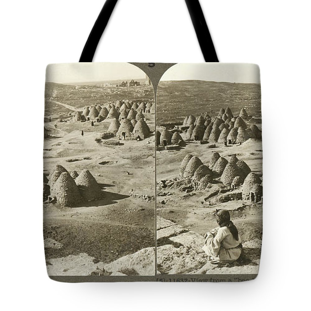 1900 Tote Bag featuring the photograph Arab Bee Hive Village by Underwood & Underwood