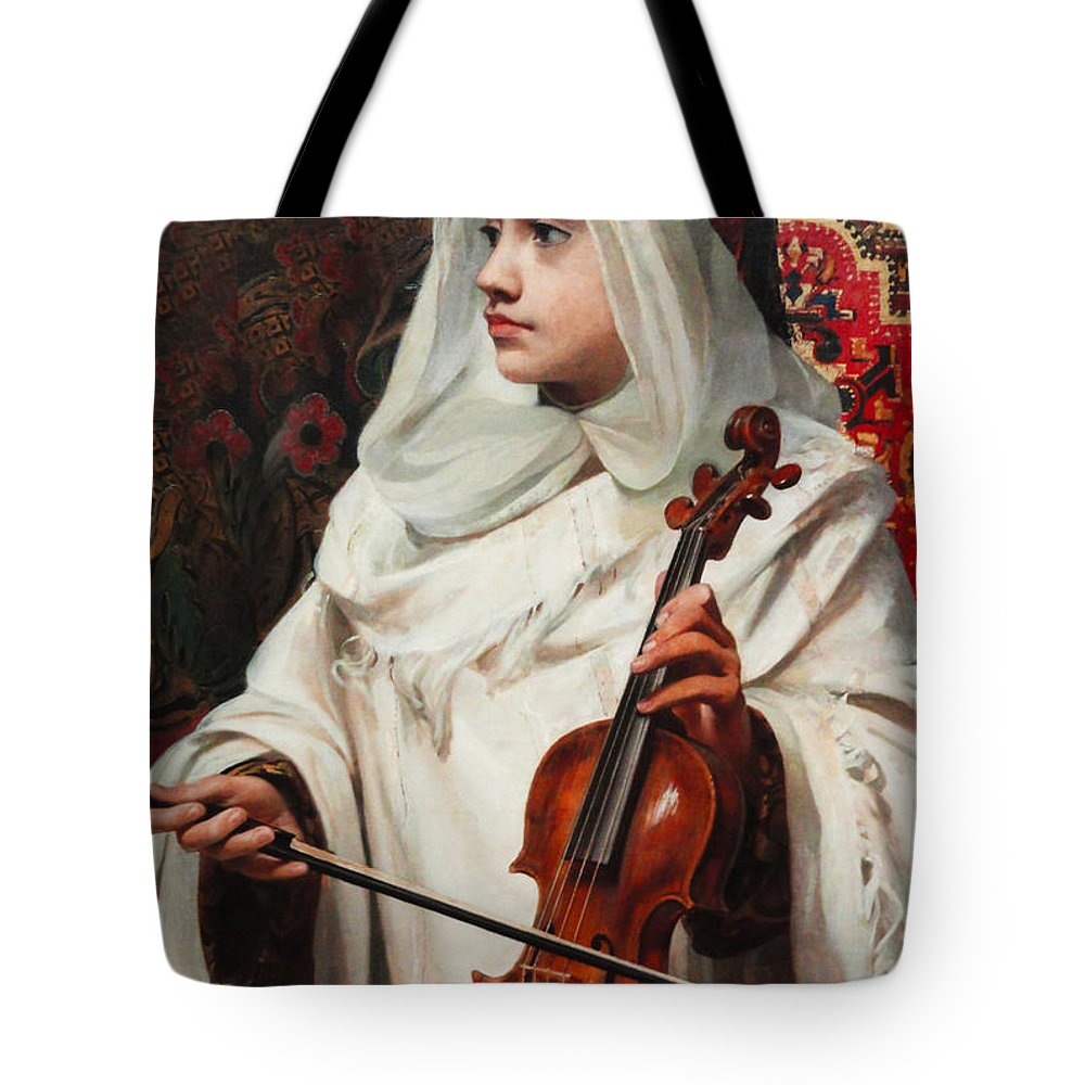 Pedro Americo Tote Bag featuring the digital art Arab Fiddler by Pedro Americo