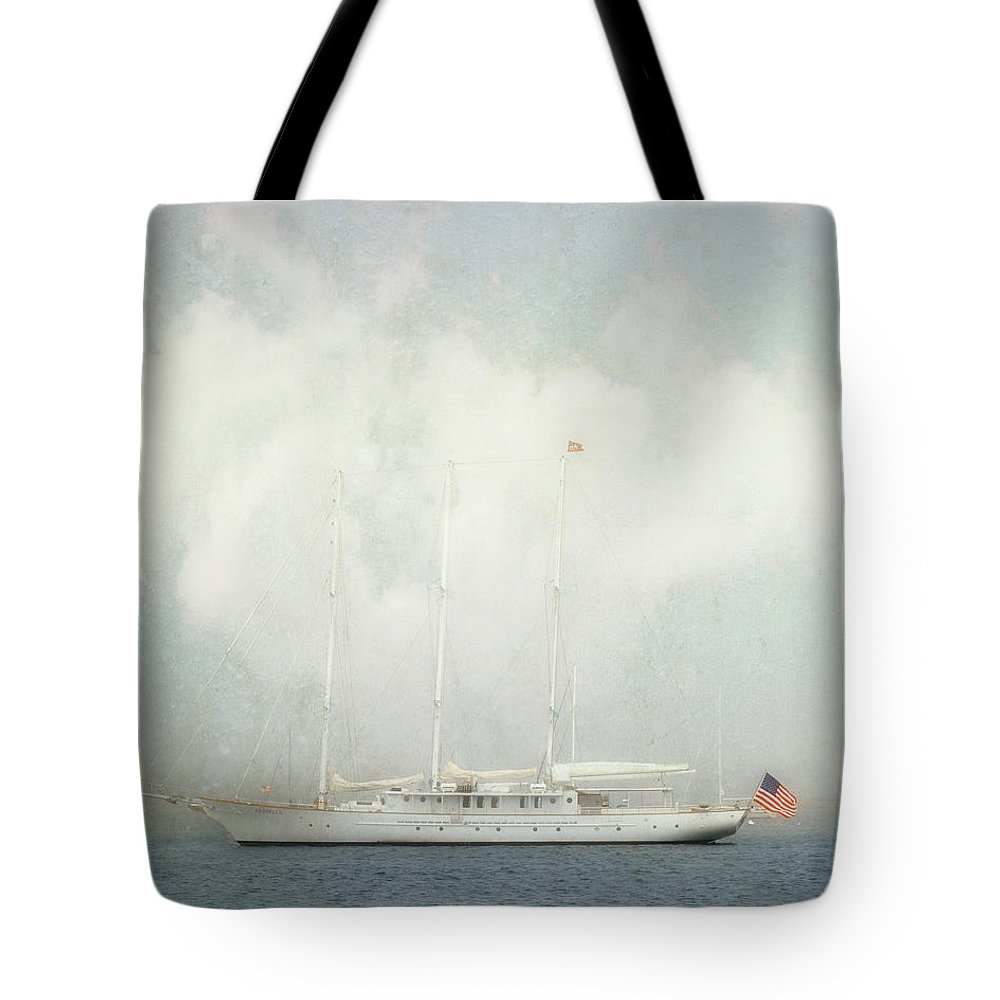 Arabella Tote Bag featuring the photograph Arabella On Newport Harbor by Karen Lynch