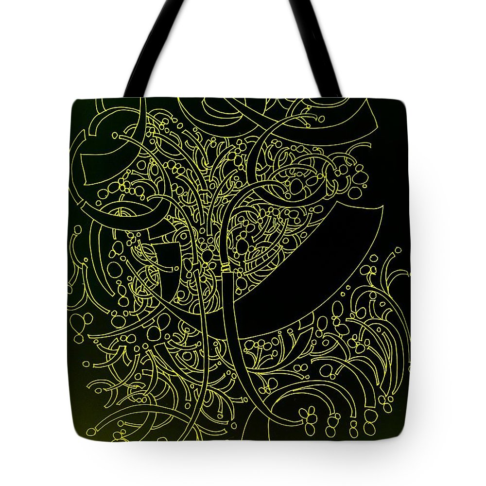 Pen And Ink Drawing Tote Bag featuring the drawing Arabian Night by Nancy Kane Chapman