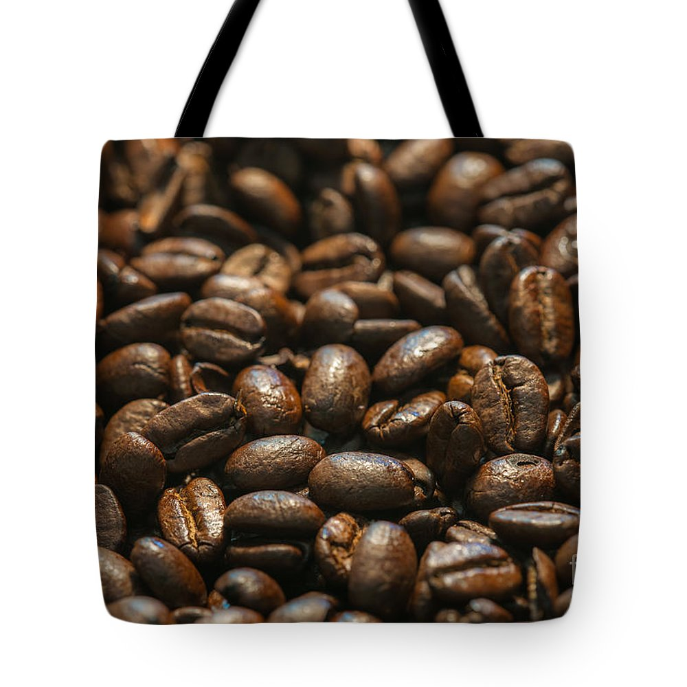 Expresso Tote Bag featuring the photograph Arabica Beans by Dale Powell