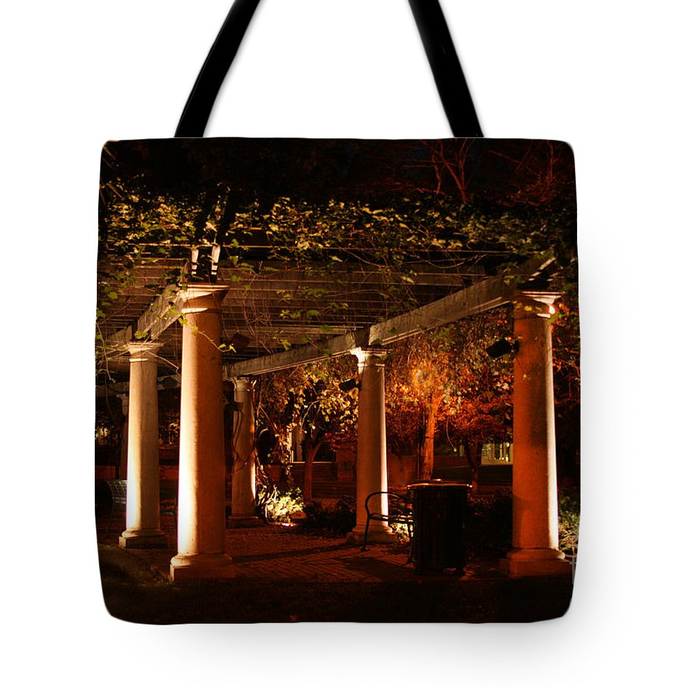 Baker University Tote Bag featuring the photograph Arbor Glow by Crystal Nederman