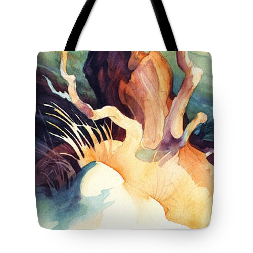 Trees Tote Bag featuring the painting Arbutus Twist by Dianne Bersea