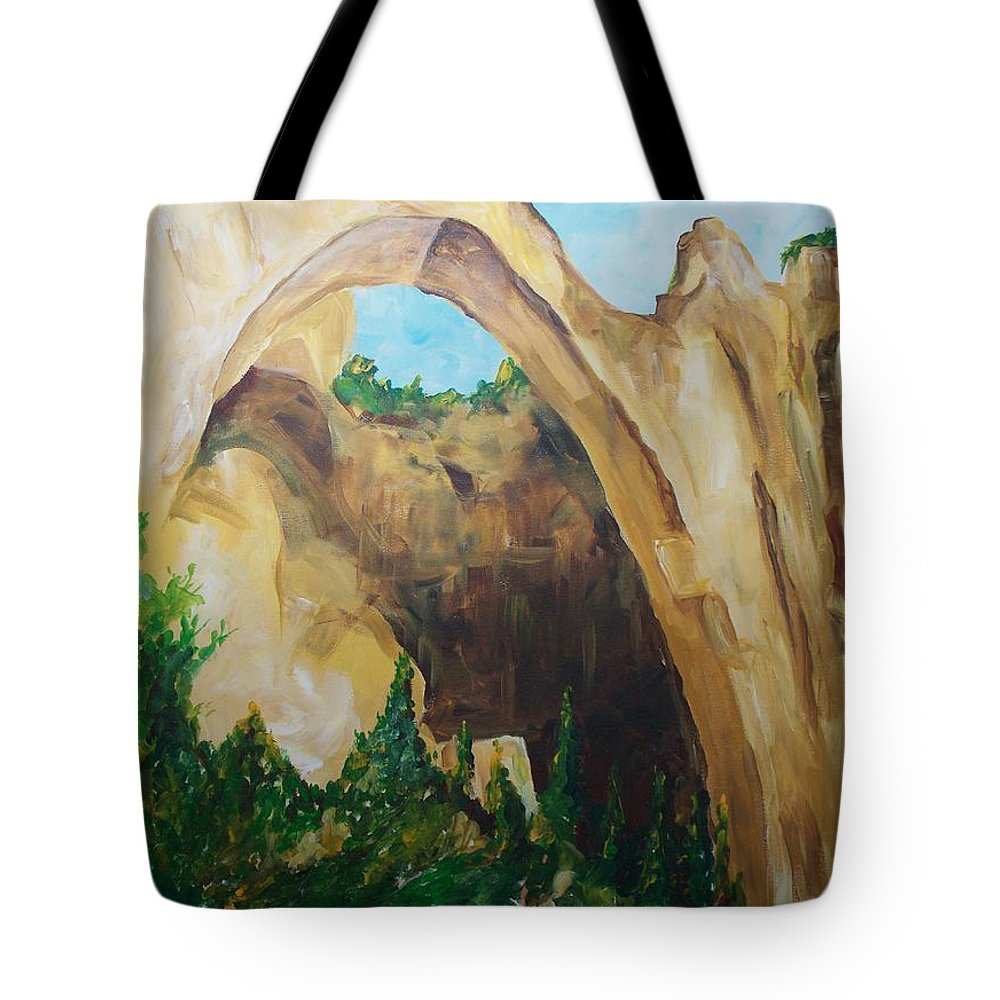 Floral Tote Bag featuring the painting Arch by Eric Schiabor