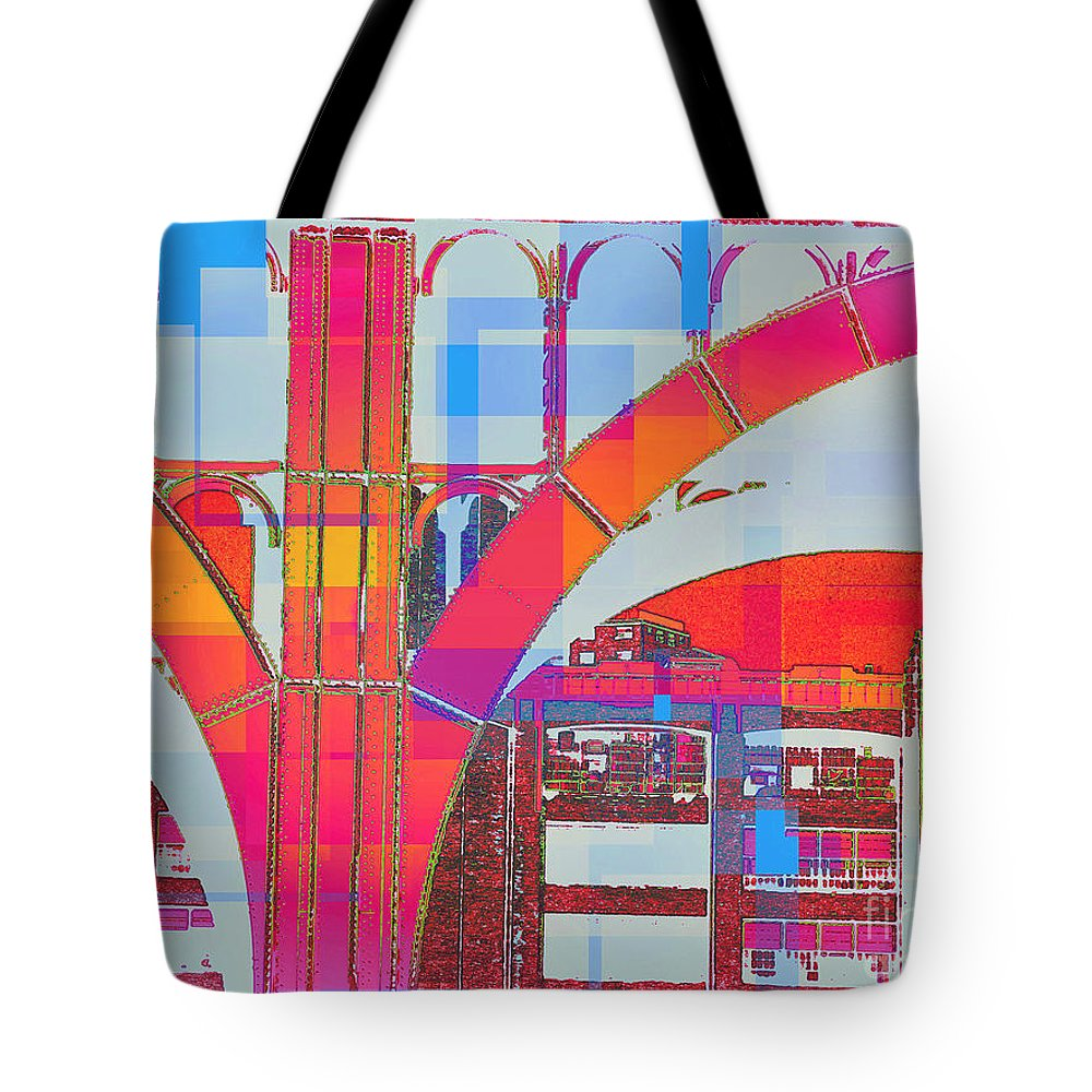 Arch Tote Bag featuring the photograph Arch Five - Architecture Of New York City by Miriam Danar