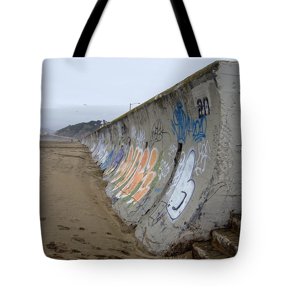 Graffiti Tote Bag featuring the photograph Archaeological Conundrum by Donna Blackhall