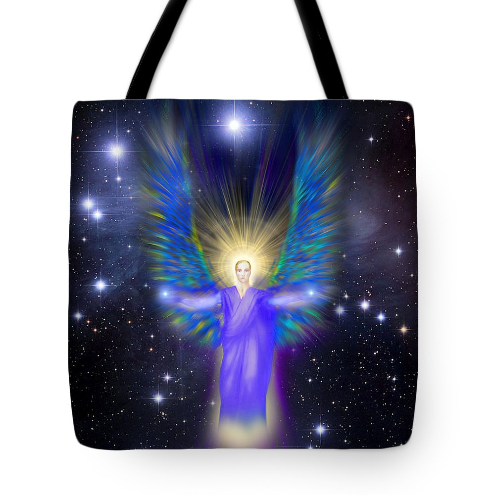 Endre Tote Bag featuring the digital art Archangel Michael by Endre Balogh