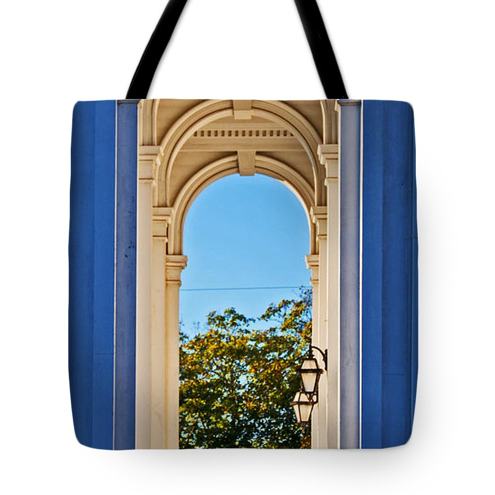 Architecture Tote Bag featuring the photograph Arched by Joe Geraci