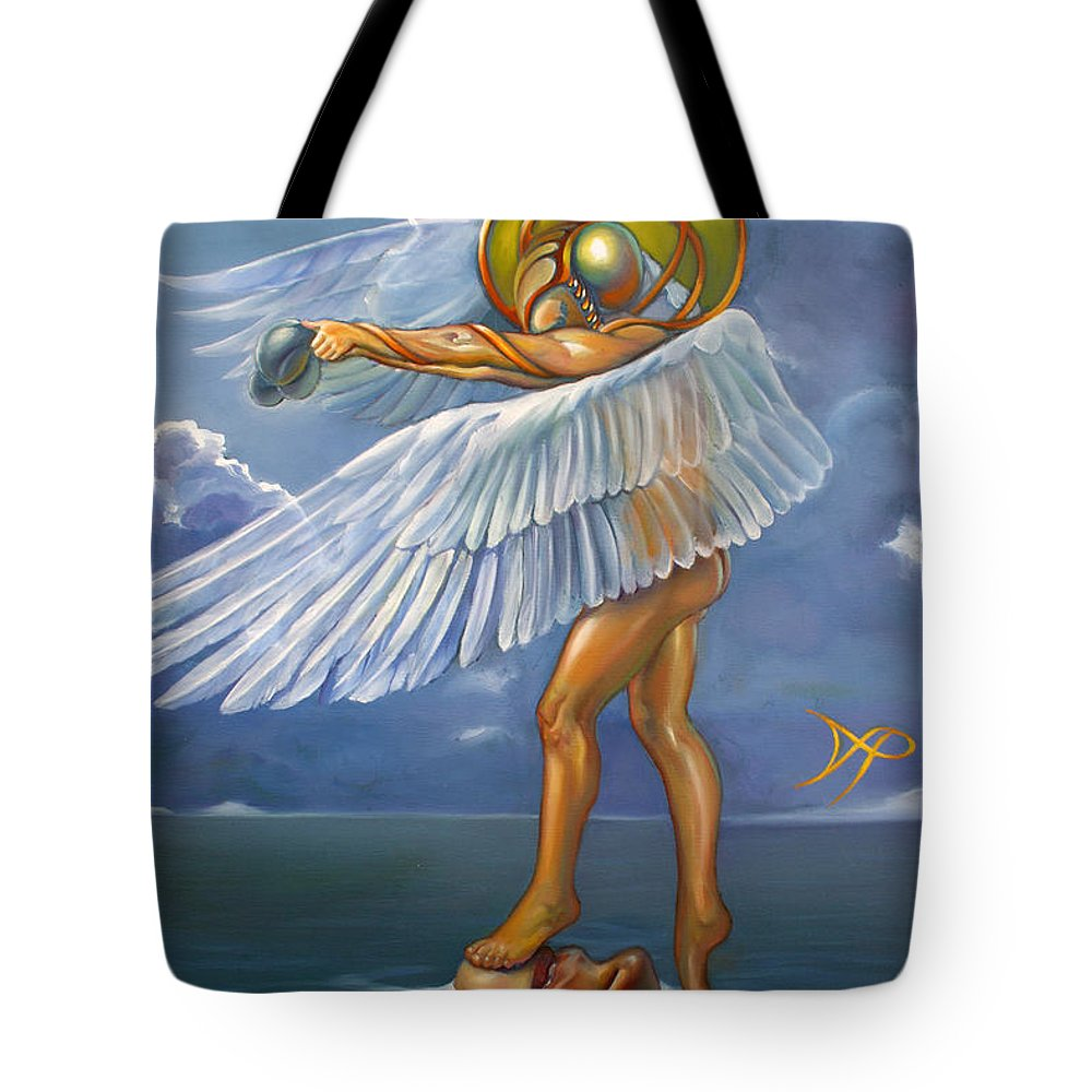 Merman Tote Bag featuring the painting Archelon Wip by Patrick Anthony Pierson