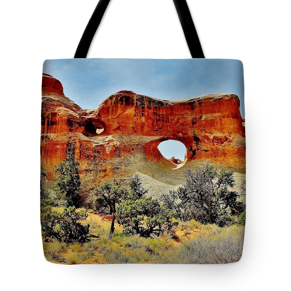 Arches Tote Bag featuring the photograph Arches by Benjamin Yeager