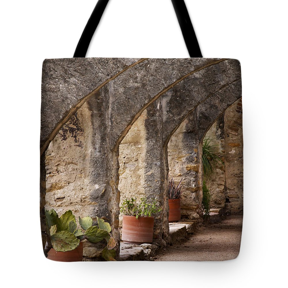 Arches Tote Bag featuring the photograph Arches Of San Jose by David and Carol Kelly