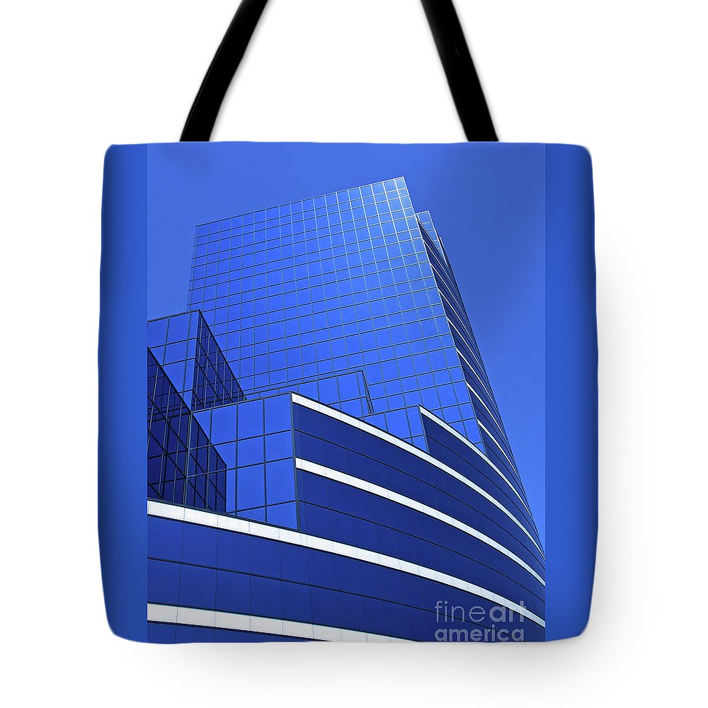 Architecture Tote Bag featuring the photograph Architectural Blues by Ann Horn