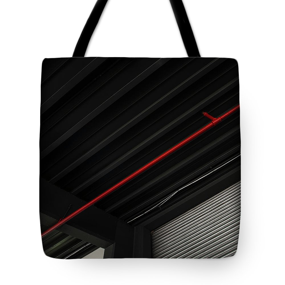 Downtown District Tote Bag featuring the photograph Architectural Detail by Copyright Dan Reynolds Photography