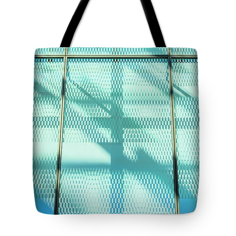 Berlin Tote Bag featuring the photograph Architectural Detail Of Modern Shopping by Ingo Jezierski