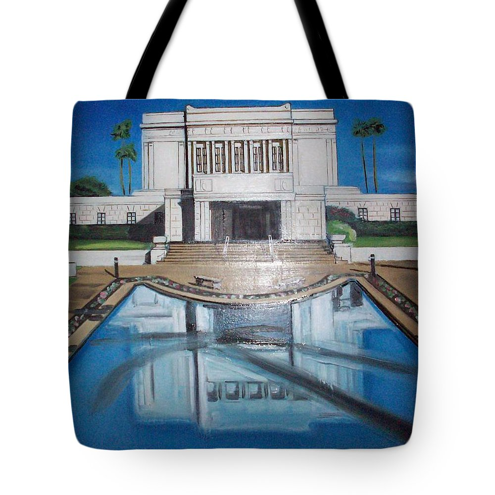 Tote Bag featuring the painting Architectural Landscape by Jude Darrien