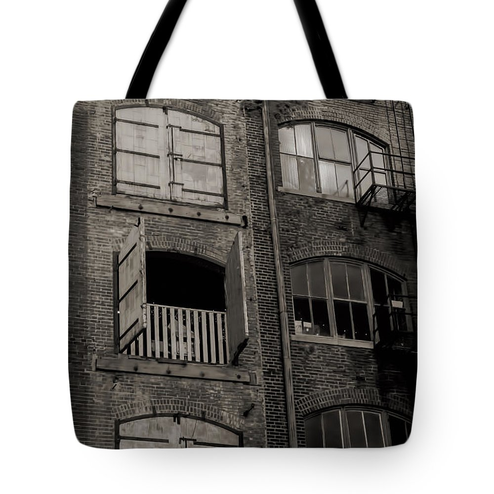 Architectural Tote Bag featuring the photograph Architectural Ruins by Deb Buchanan