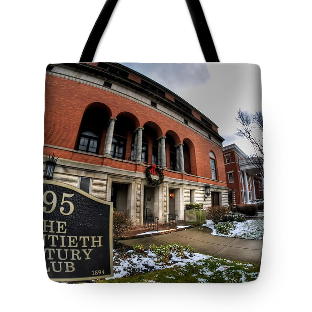 Architecture Tote Bag featuring the photograph Architecture And Places In The Q.c. Series 01 The Twentieth Century Club by Michael Frank Jr