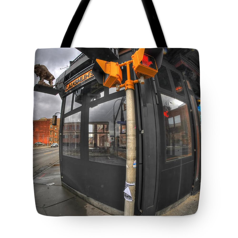 Architecture Tote Bag featuring the photograph Architecture And Places In The Q.c. Series 02 Laughlin's by Michael Frank Jr