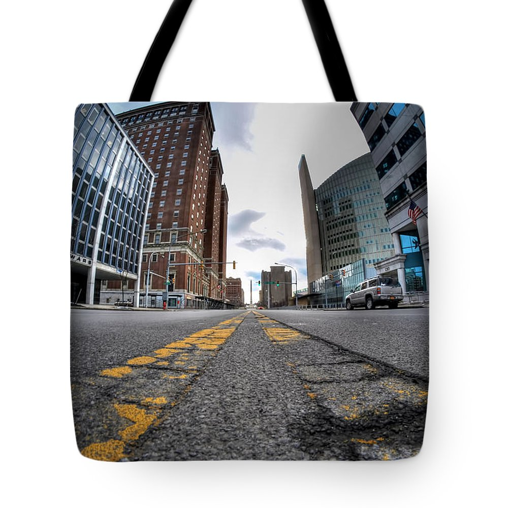 Architecture Tote Bag featuring the photograph Architecture And Places In The Q.c. Series Delaware To Heart Of Queen City by Michael Frank Jr