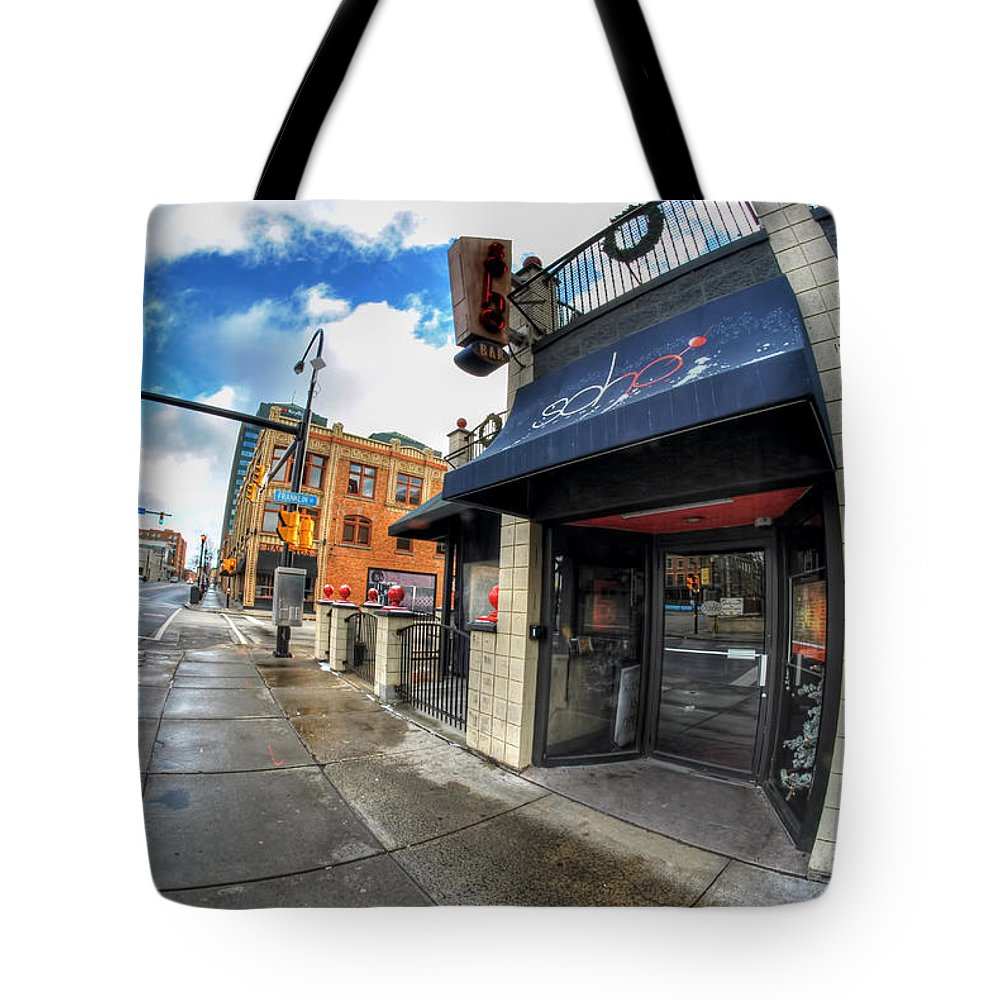 Architecture Tote Bag featuring the photograph Architecture And Places In The Q.c. Series Soho 02 by Michael Frank Jr