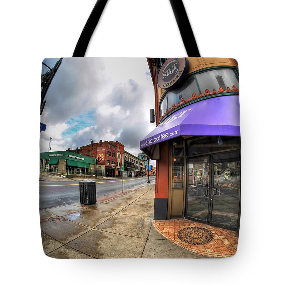 Architecture Tote Bag featuring the photograph Architecture And Places In The Q.c. Series Spot by Michael Frank Jr