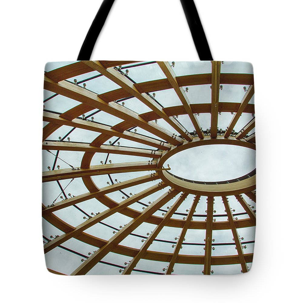 Ceiling Tote Bag featuring the photograph Architecture In Color by Leah Palmer