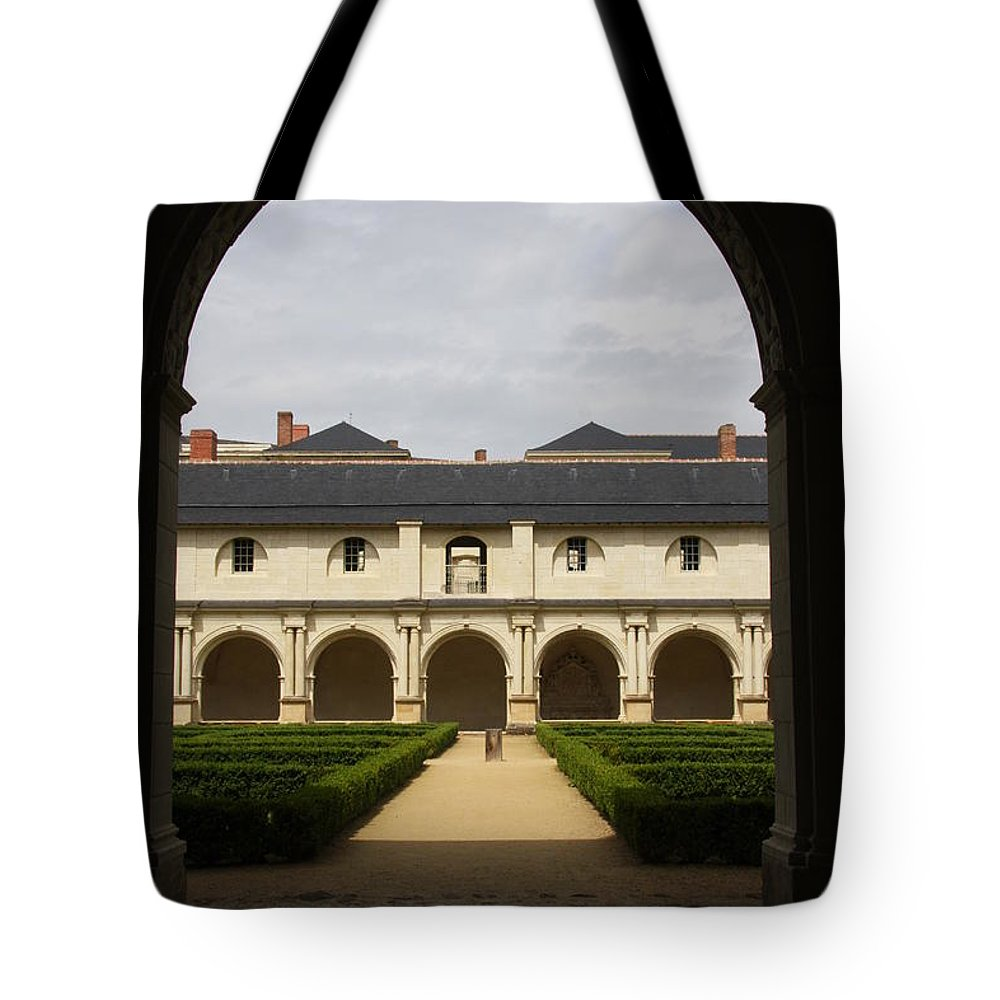 Doorway Tote Bag featuring the photograph Archview To The Courtyard - France by Christiane Schulze Art And Photography