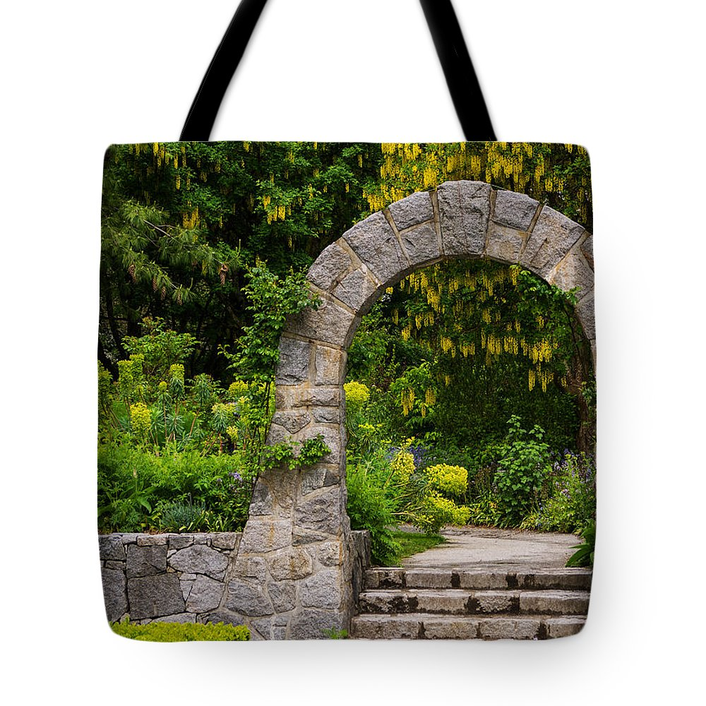 Garden Tote Bag featuring the photograph Archway To The Secret Garden by Jordan Blackstone