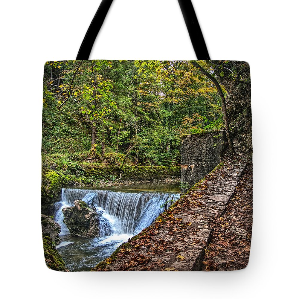 Switzerland Tote Bag featuring the photograph Areuse Gorge by Hanny Heim