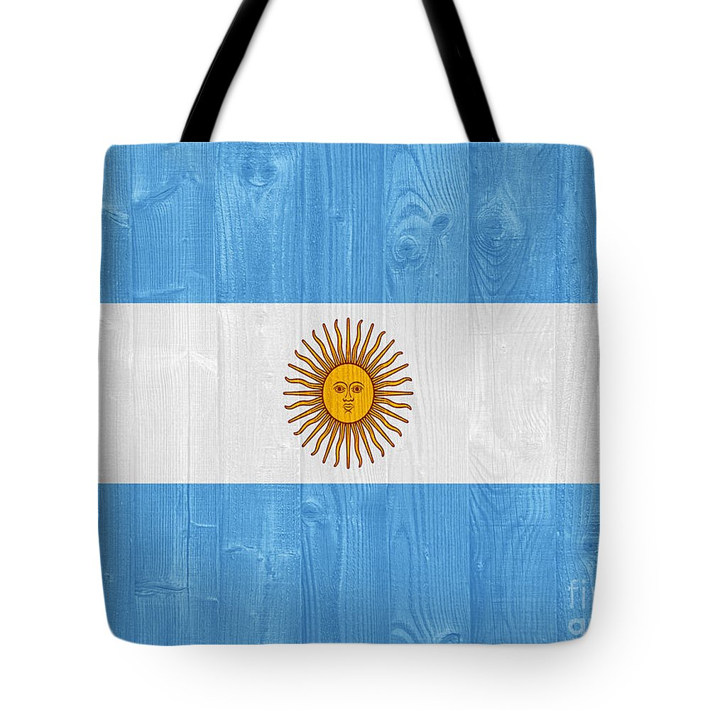 Argentina Tote Bag featuring the photograph Argentina Flag by Luis Alvarenga