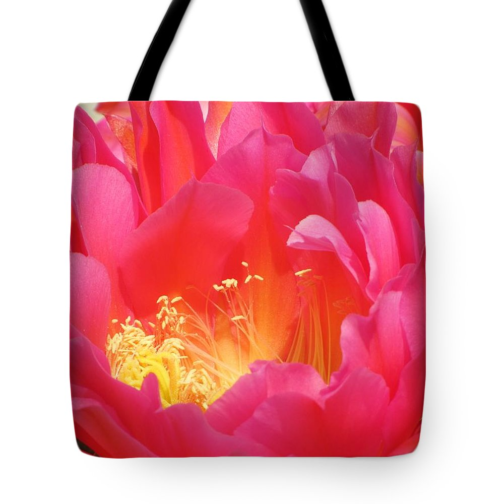 Cactus Flower Tote Bag featuring the photograph Arizona Cactus Beauty by Michelle Cassella