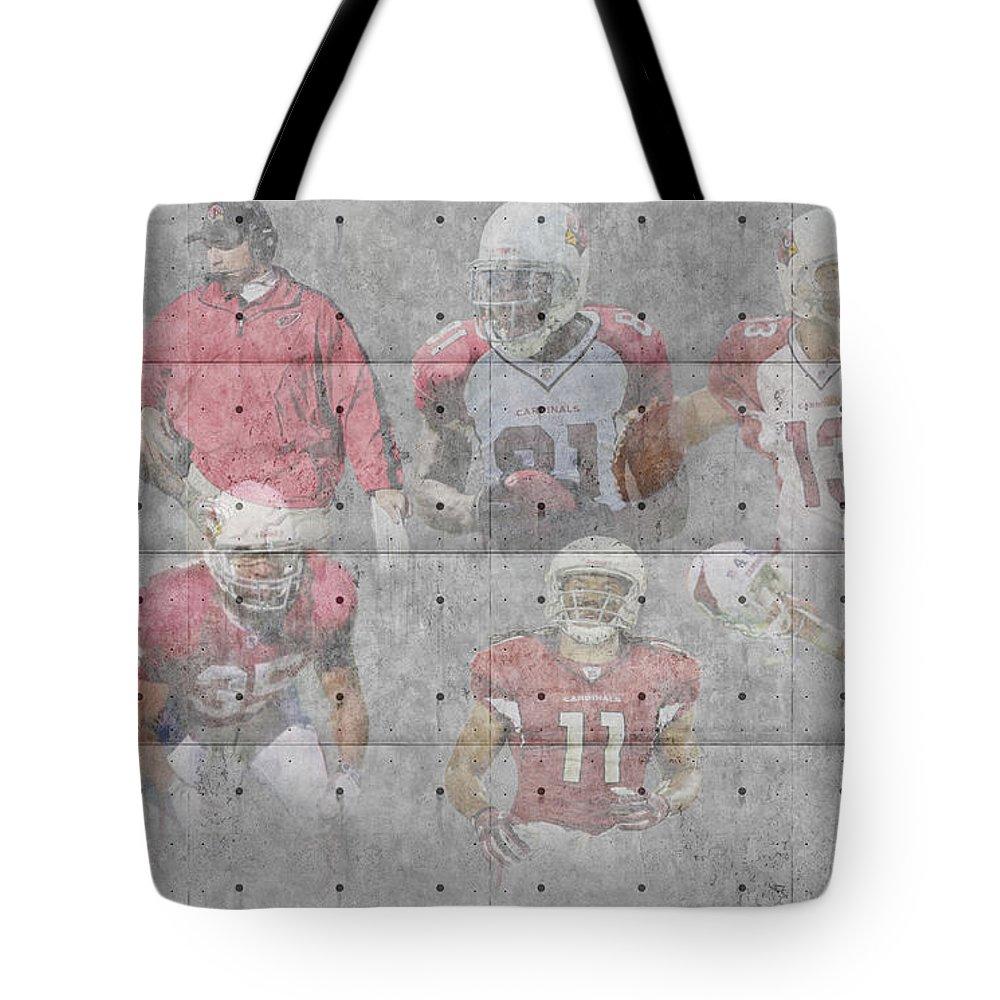 Cardinals Tote Bag featuring the photograph Arizona Cardinals Legends by Joe Hamilton
