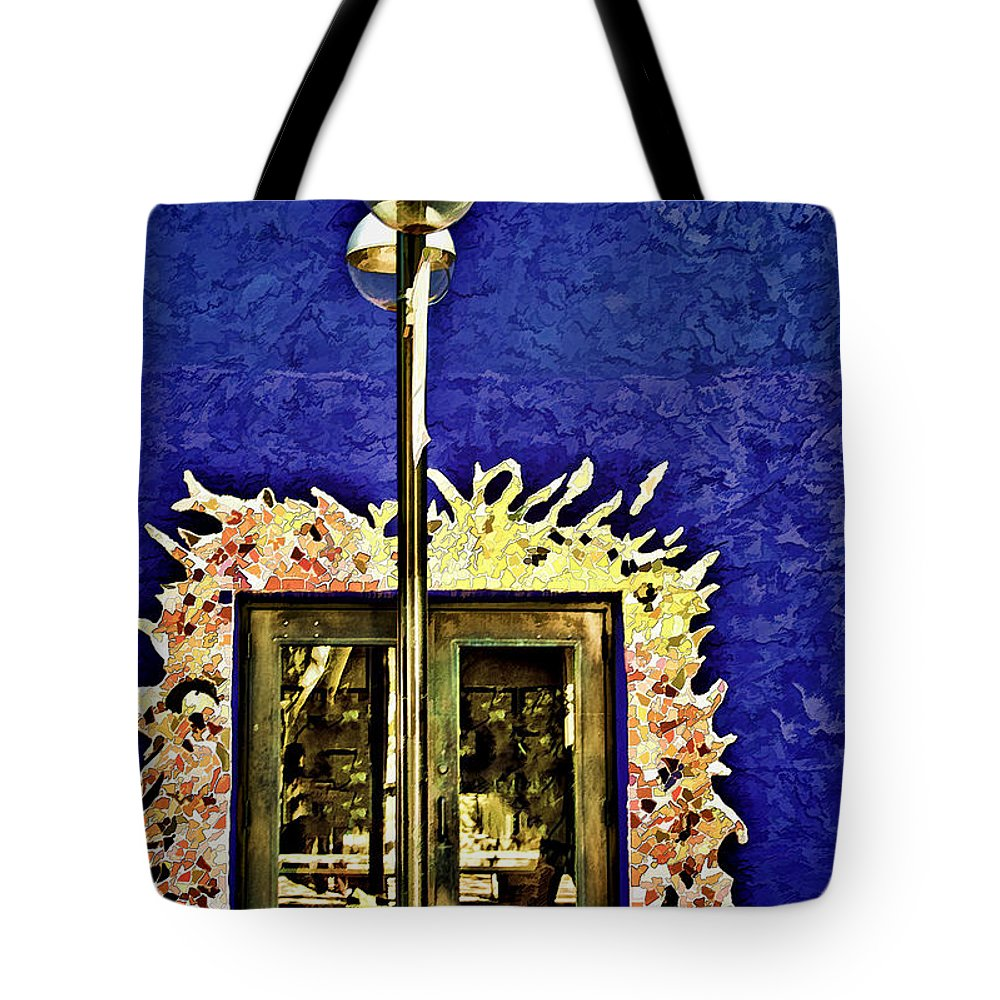 Architecture Tote Bag featuring the photograph Fiesta by Maria Coulson
