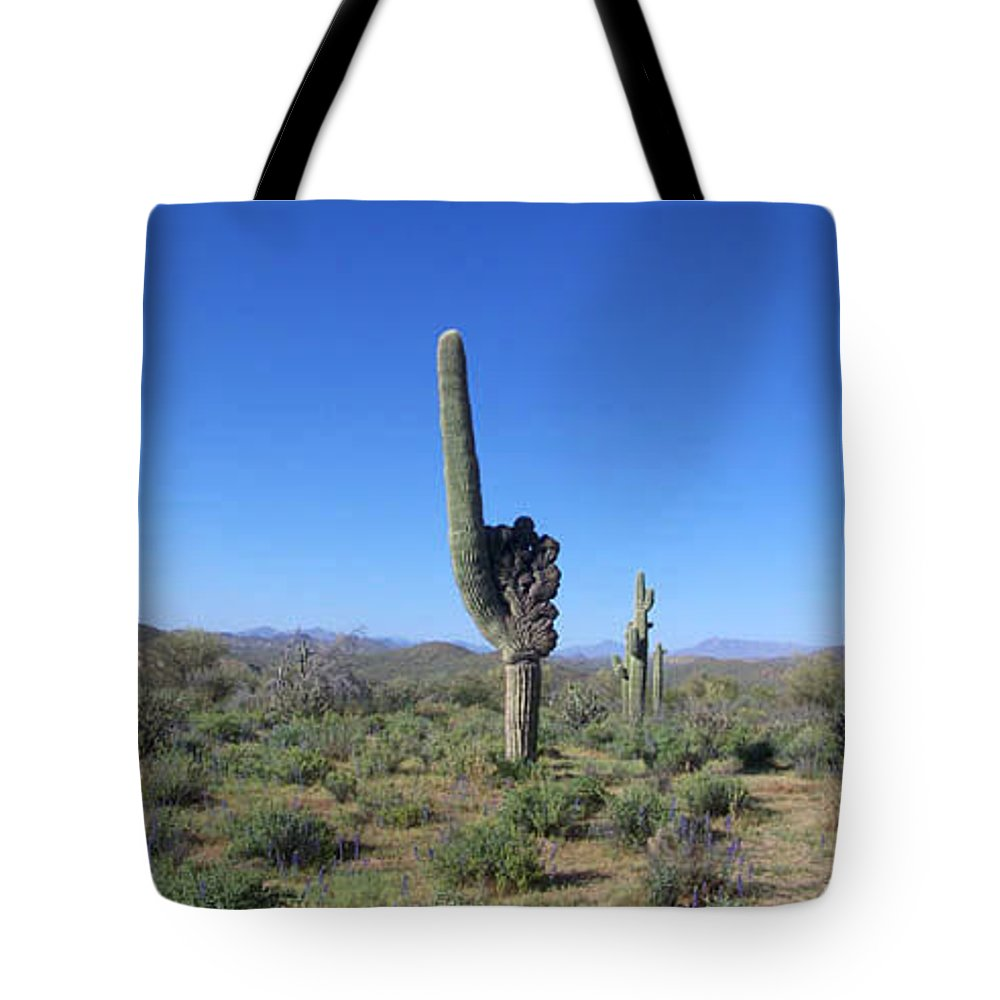 Sahuaro Tote Bag featuring the photograph Arizona Is Number One by Kathy McClure